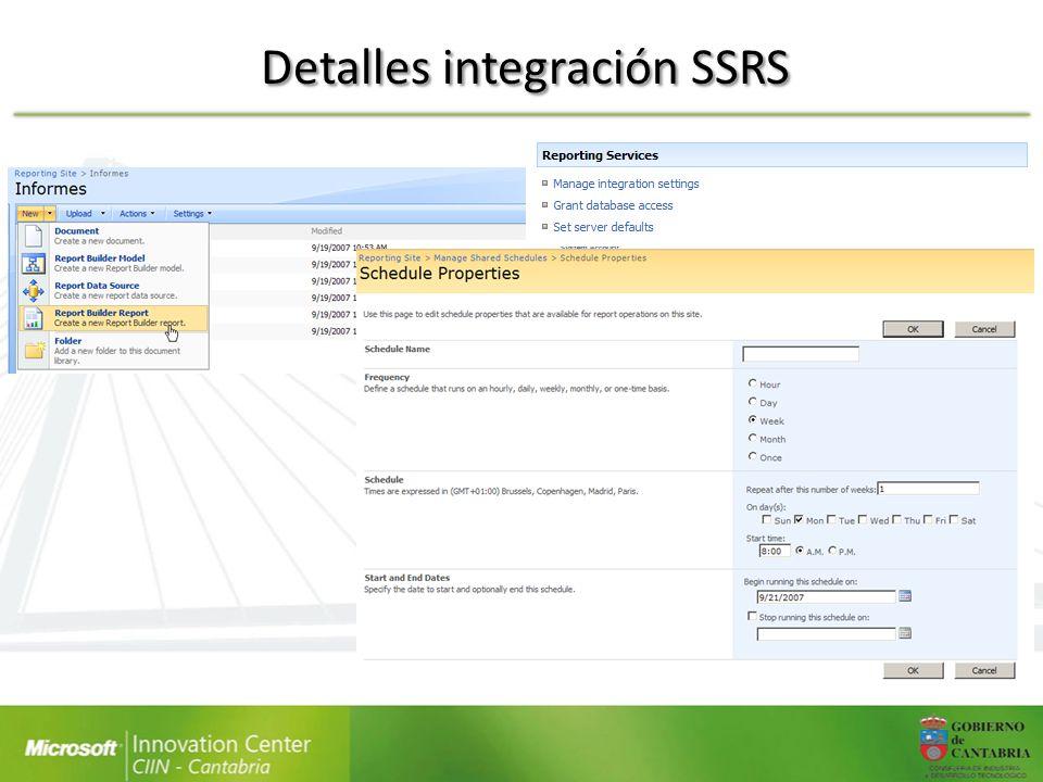 Detalles integración SSRS