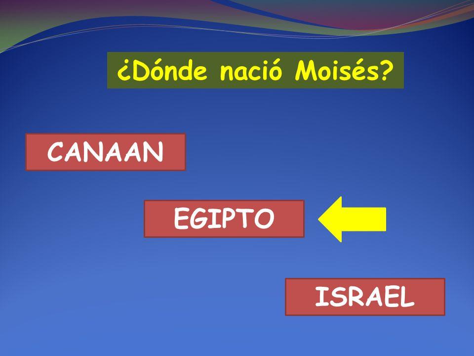 ¿Dónde nació Moisés? CANAAN EGIPTO ISRAEL