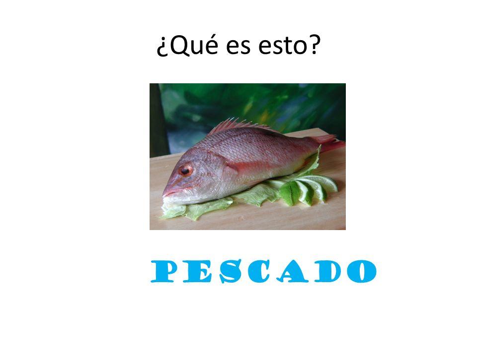 ¿Qué es esto? pescado