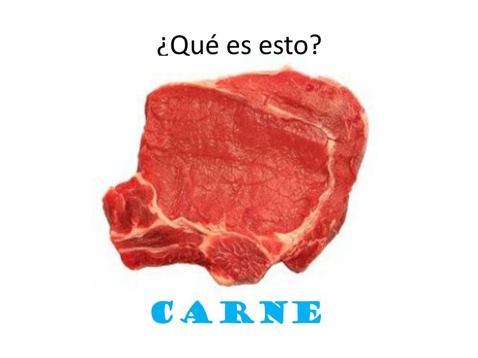 ¿Qué es esto? carne