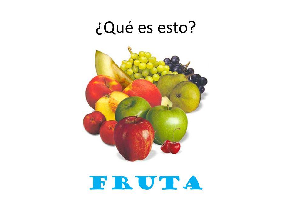 ¿Qué es esto? fruta