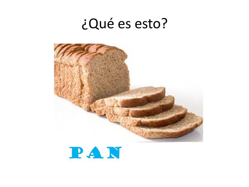 ¿Qué es esto? pan
