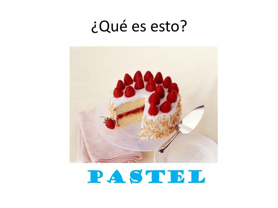 ¿Qué es esto? pastel