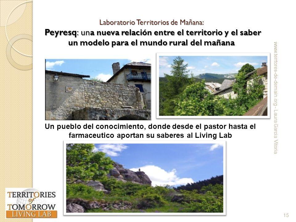 Laboratorio Territorios de Mañana: Peyresq: un a nueva relación entre el territorio y el saber un modelo para el mundo rural del mañana www.terrtores-