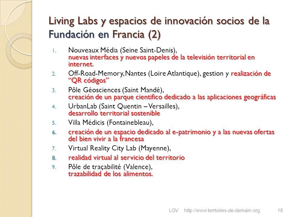 Living Labs y espacios de innovación socios de la Fundación en Francia (2) nuevas interfaces y nuevos papeles de la televisión territorial en internet