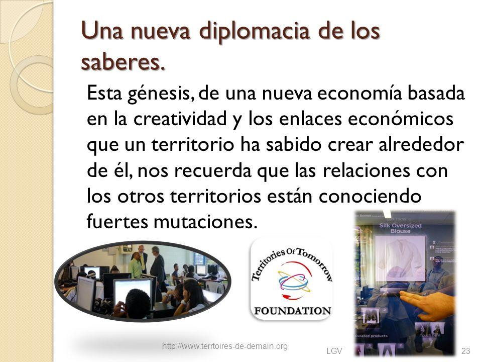 Una nueva diplomacia de los saberes. Esta génesis, de una nueva economía basada en la creatividad y los enlaces económicos que un territorio ha sabido