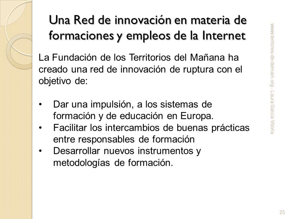 Una Red de innovación en materia de formaciones y empleos de la Internet www.terrtores-de-demain.org - Laura Garcia Vitoria 25 La Fundación de los Ter