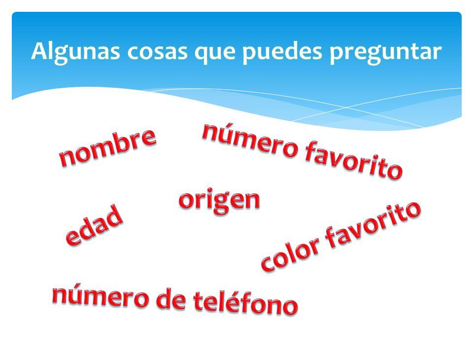 (Yo) Soy de White Plains, Nueva York (Yo) Soy de los Estados Unidos (EE.UU.) Soy de México.
