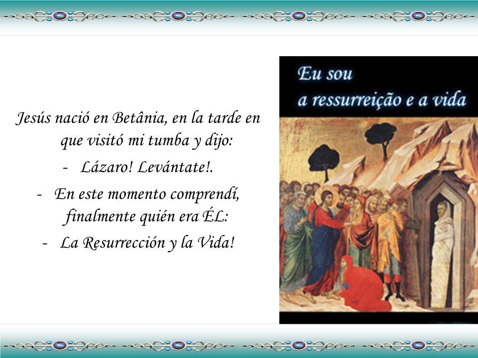 Preguntamos a Lázaro donde y cuando nació Jesús. Él nos responderá: