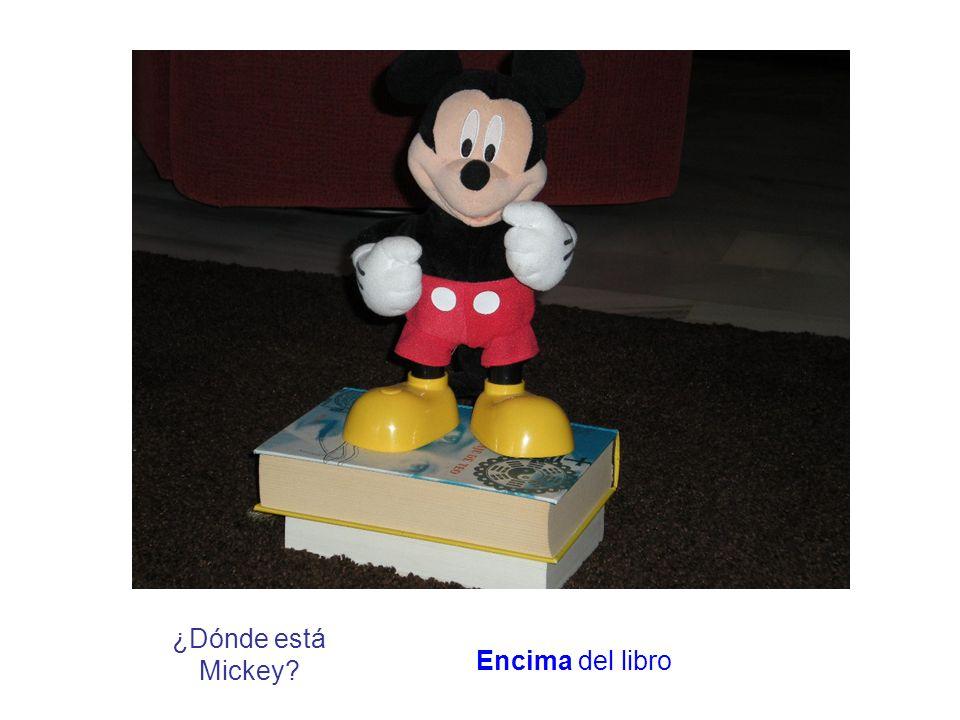 ¿Dónde está Mickey? Encima del libro