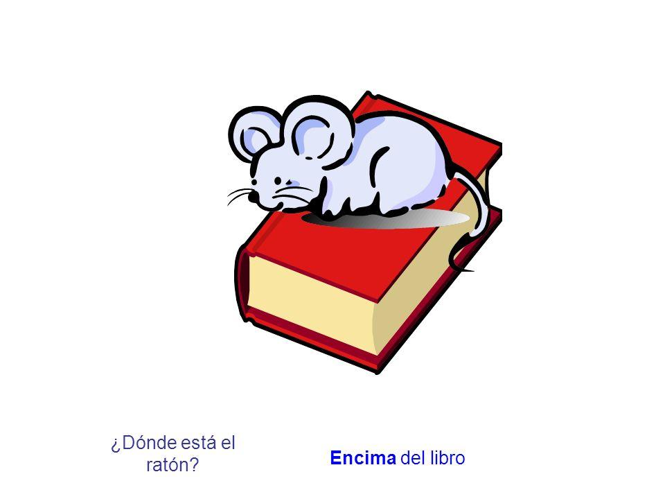 ¿Dónde está el ratón? Encima del libro