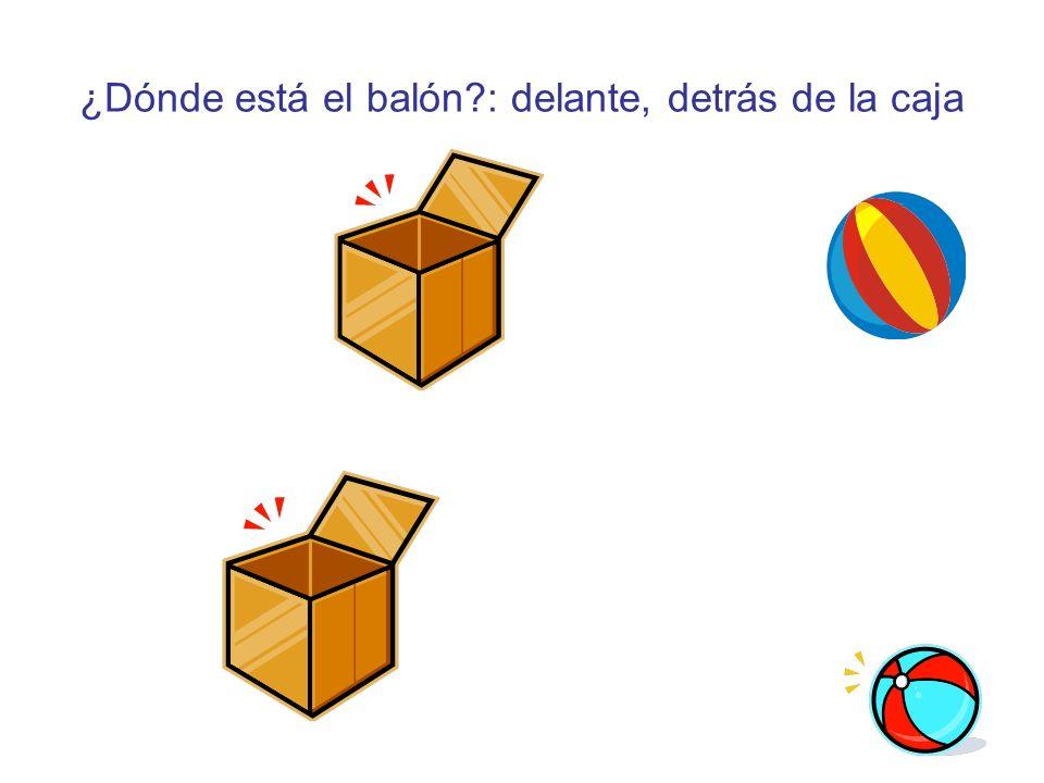 ¿Dónde está el balón?: delante, detrás de la caja