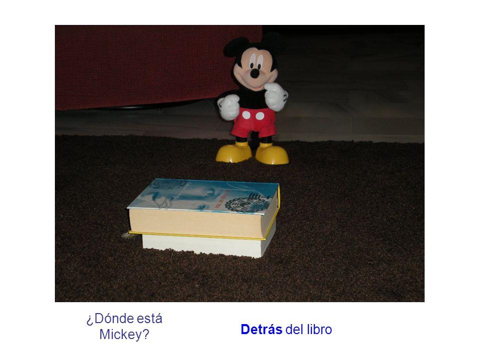 ¿Dónde está Mickey? Detrás del libro