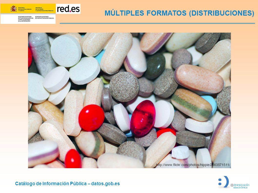 Catálogo de Información Pública – datos.gob.es MÚLTIPLES FORMATOS (DISTRIBUCIONES) http://www.flickr.com/photos/hippie/2563571511/