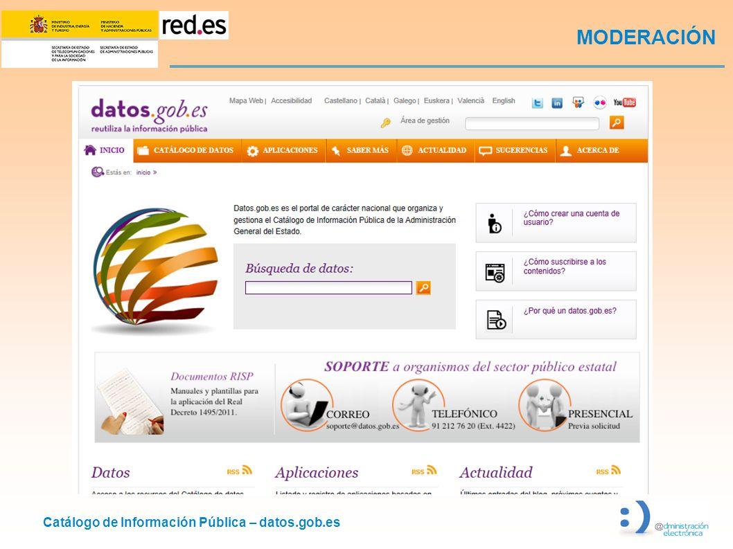 Catálogo de Información Pública – datos.gob.es MODERACIÓN