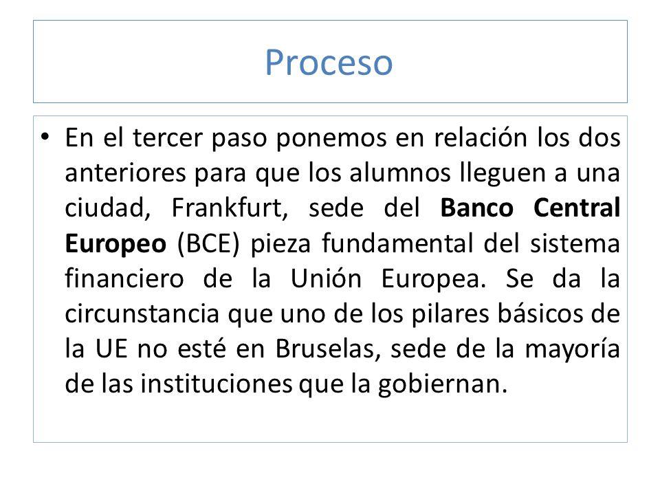 Proceso Entiendo que es un argumento para que los alumnos reflexionen sobre cómo el BCE hereda la política del Bundesbank alemán.