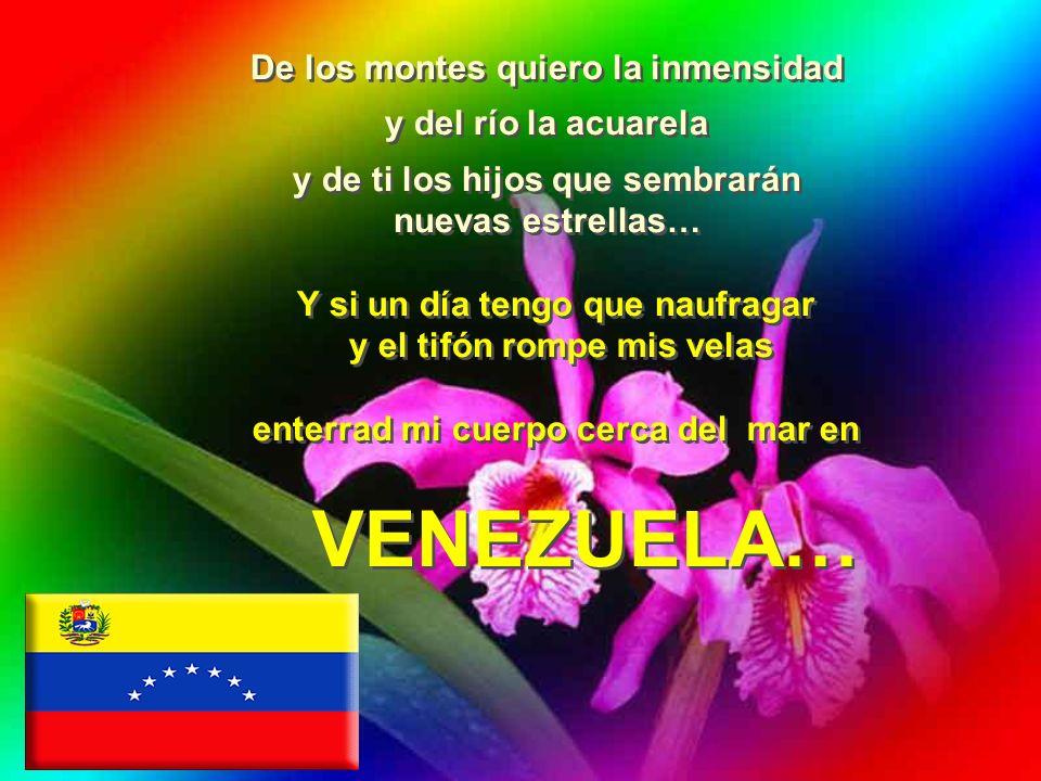 La mujer que quiero tiene que ser corazón, fuego y espuela con la piel tostada como una flor de Venezuela… Con tu paisaje y mis sueños me iré por esos