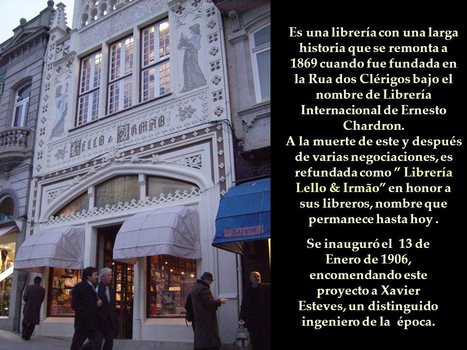 El edifício de la llamada Librería Chardron ahora Librería Lello & Irmão está situado en la Rua de las Carmelitas nº 144, en Oporto.