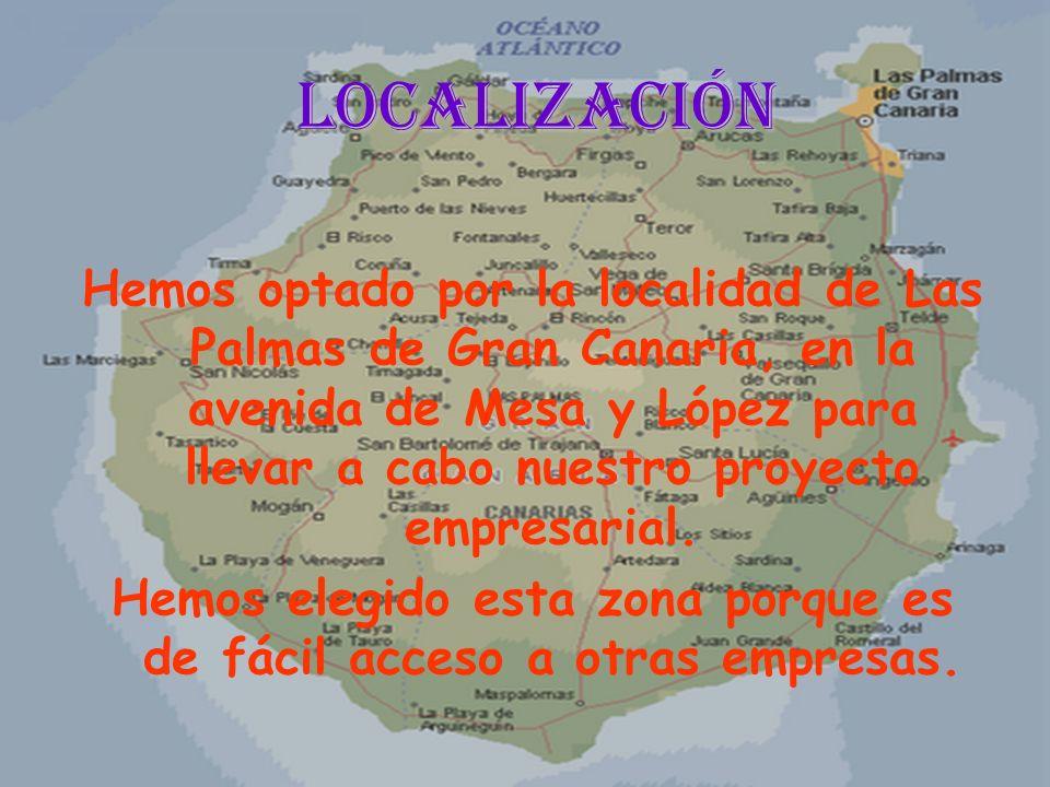 Localización Hemos optado por la localidad de Las Palmas de Gran Canaria, en la avenida de Mesa y López para llevar a cabo nuestro proyecto empresaria