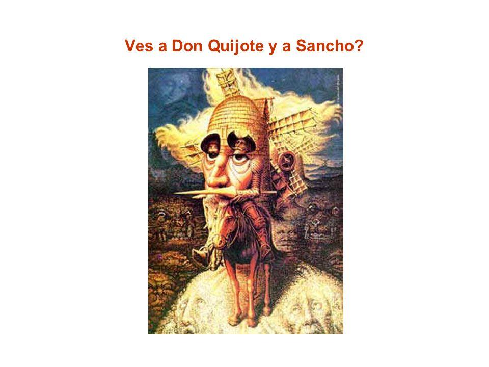 Ves a Don Quijote y a Sancho?