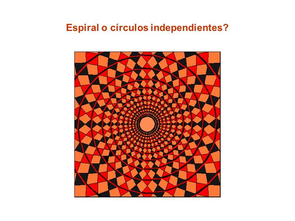 Espiral o círculos independientes?