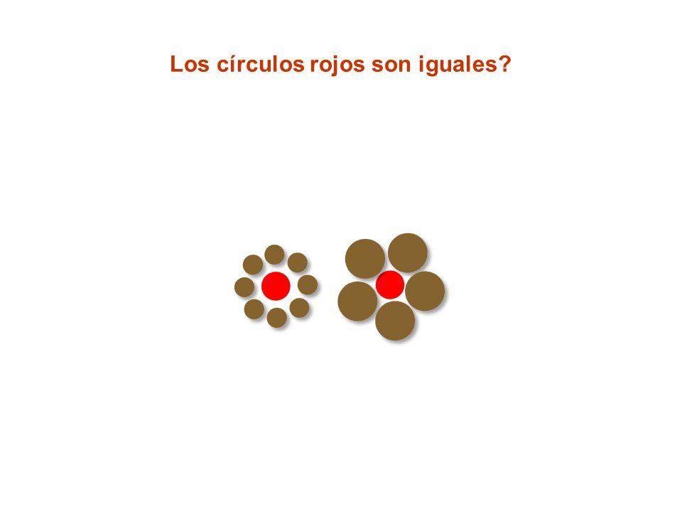 Los círculos rojos son iguales?