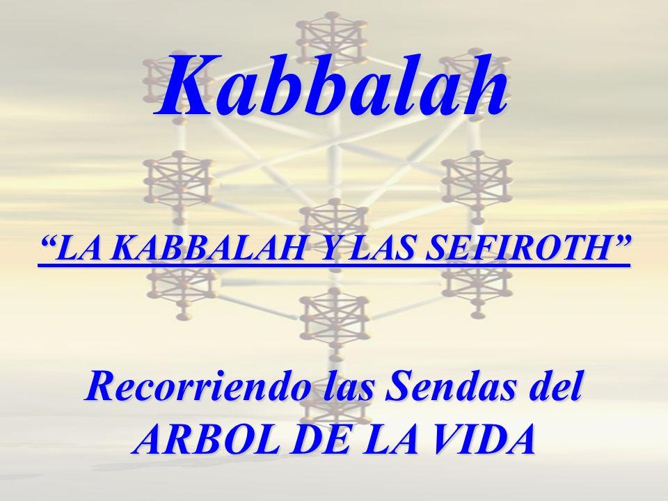 Kabbalah LA KABBALAH Y LAS SEFIROTH Recorriendo las Sendas del ARBOL DE LA VIDA
