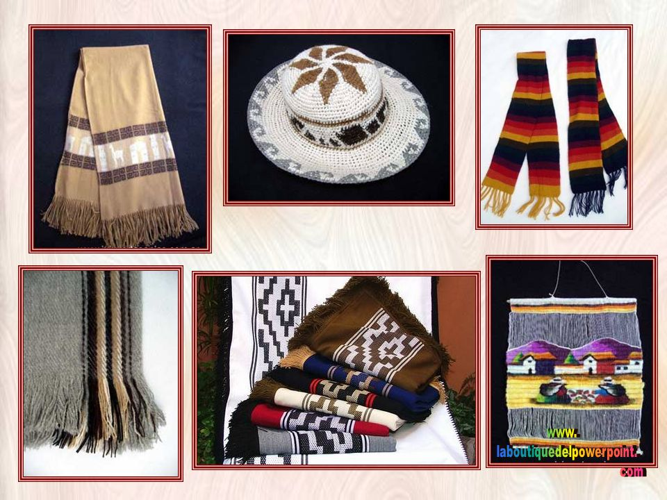ARTESANIAS JUJEÑAS Tejidos en telar con lana de llamas o vicuñas