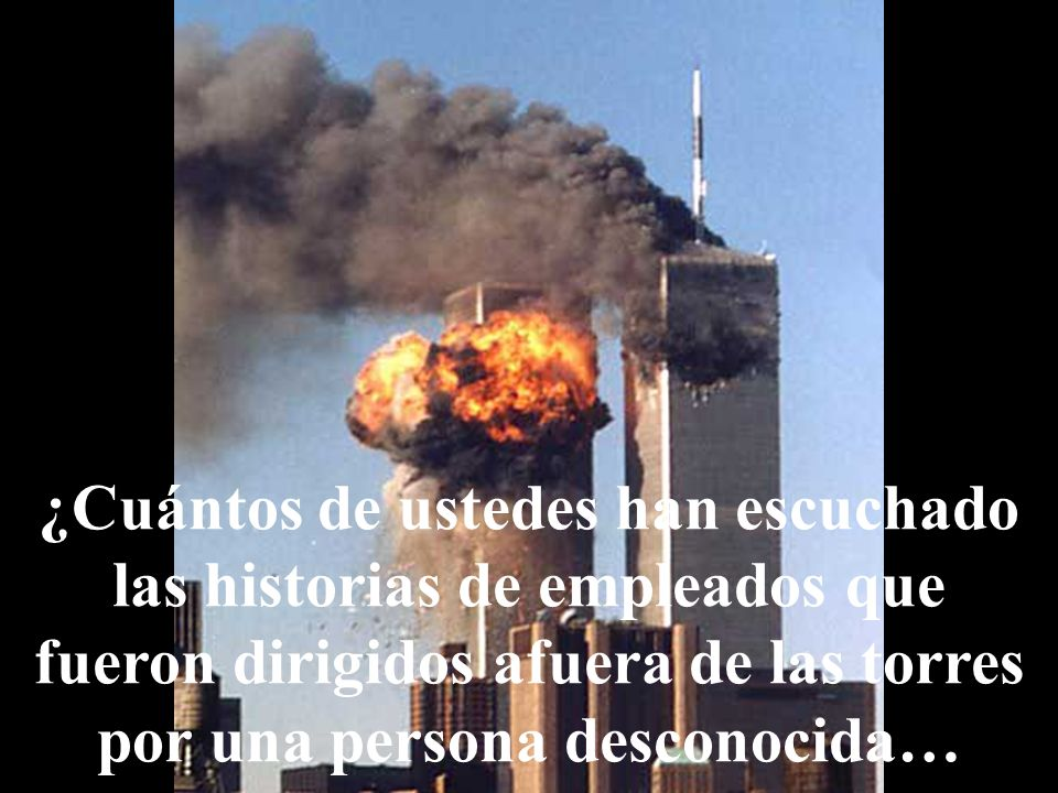 También les enseñó a los afectados el camino para salir de los edificios, porque no podían ver por el humo y la confusión.