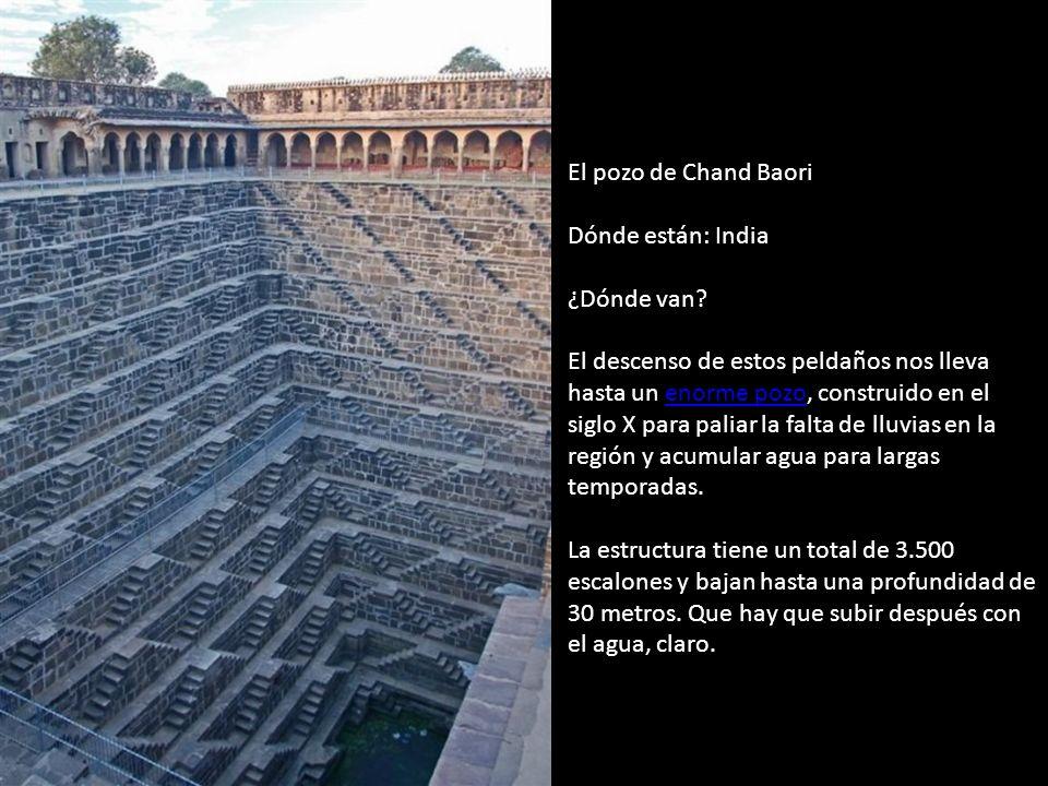 El pozo de Chand Baori Dónde están: India ¿Dónde van.