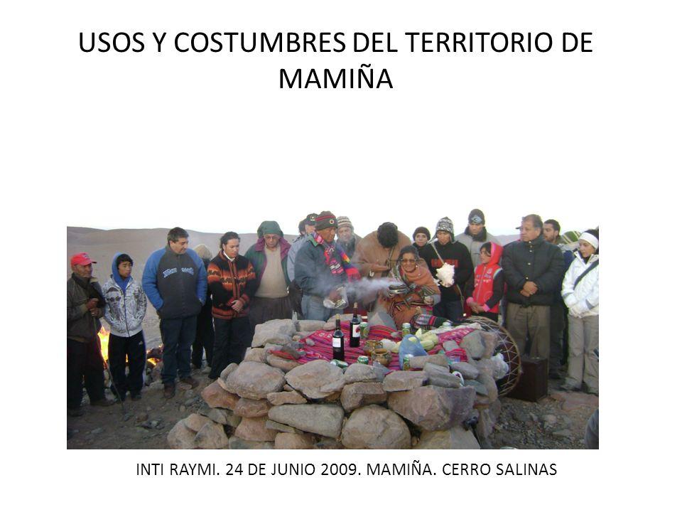 USOS Y COSTUMBRES DEL TERRITORIO DE MAMIÑA EXPEDICION AL TERRITORIO DE MAMIÑA QUEBRADA JUAN DE MORALES