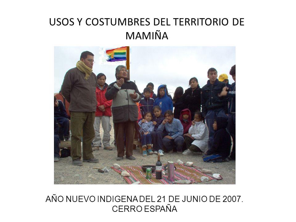 AÑO NUEVO INDIGENA DEL 21 DE JUNIO DE 2007. CERRO ESPAÑA USOS Y COSTUMBRES DEL TERRITORIO DE MAMIÑA