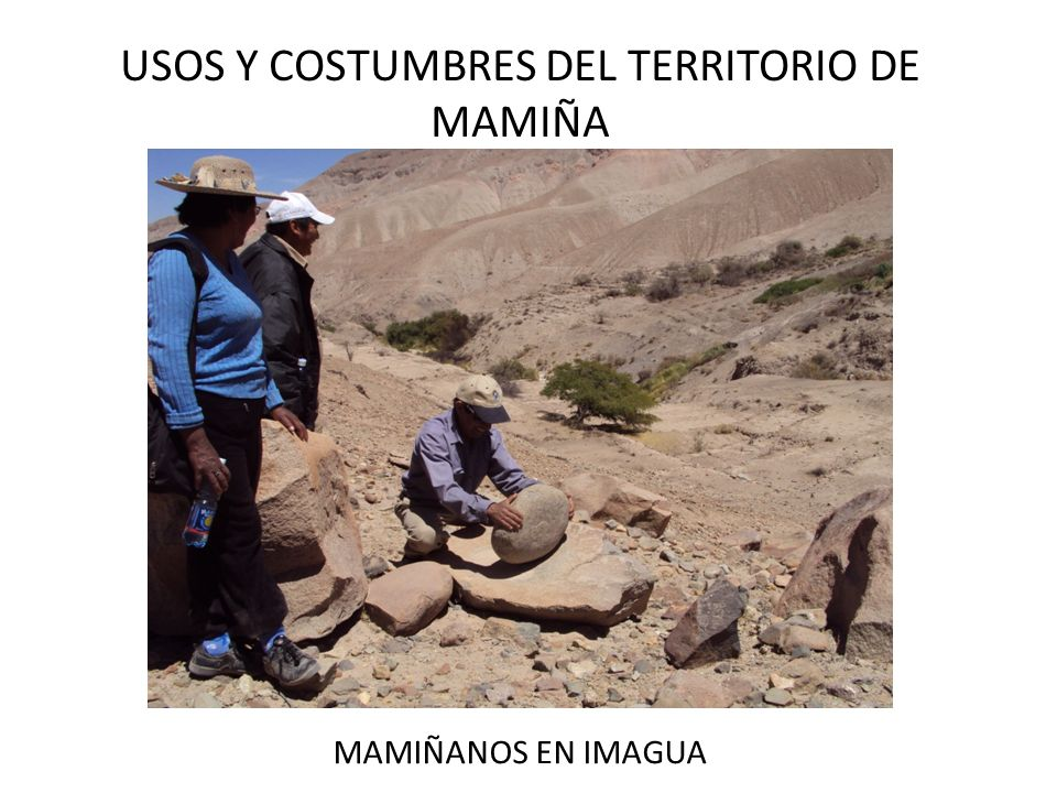 USOS Y COSTUMBRES DEL TERRITORIO DE MAMIÑA MAMIÑANOS EN IMAGUA