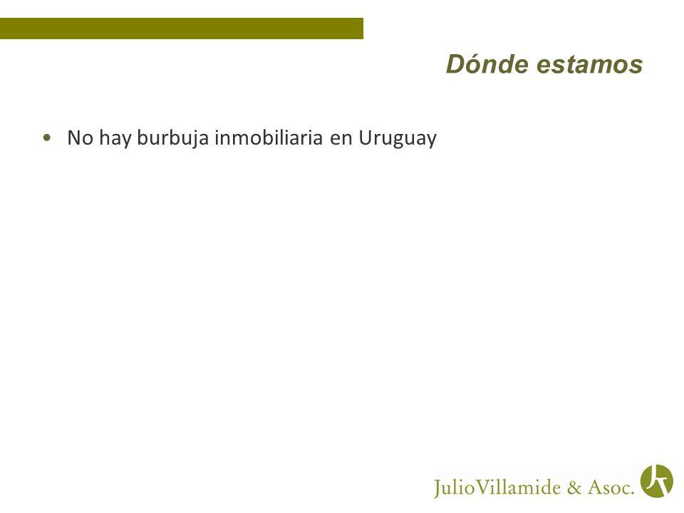 Dónde estamos No hay burbuja inmobiliaria en Uruguay