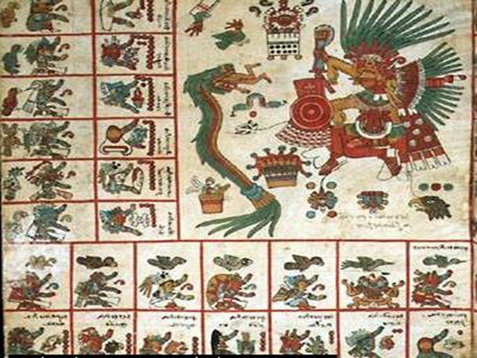 Glosario Códice: Libro antiguo generalmente hecho de amate, o de cuero doblado en biombos en algunos casos pintado por ambos lados Dualidad: doble generalmente se representa a la vida y la muerte Quetzalcoatl: Del náhuatl quetzal pluma rica coatl serpiente