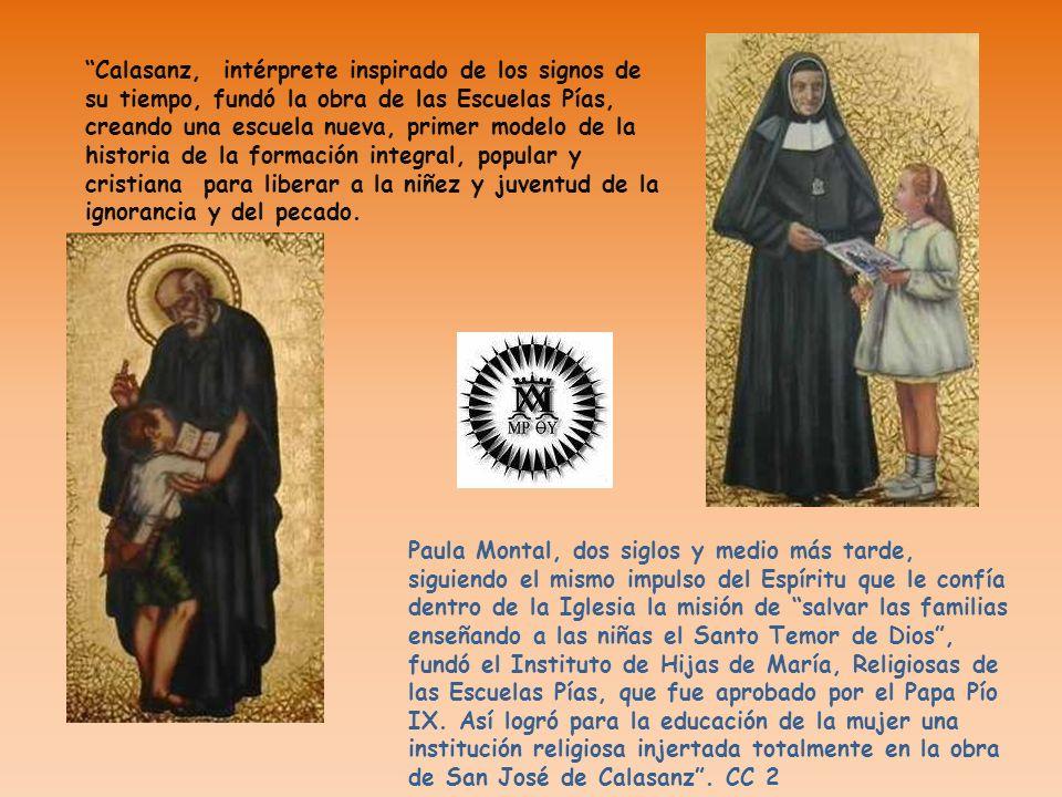 Paula Montal, dos siglos y medio más tarde, siguiendo el mismo impulso del Espíritu que le confía dentro de la Iglesia la misión de salvar las familia