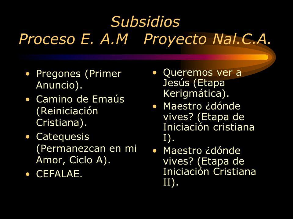 P.E. Arq. Mex. Catecumenado P. N. C.