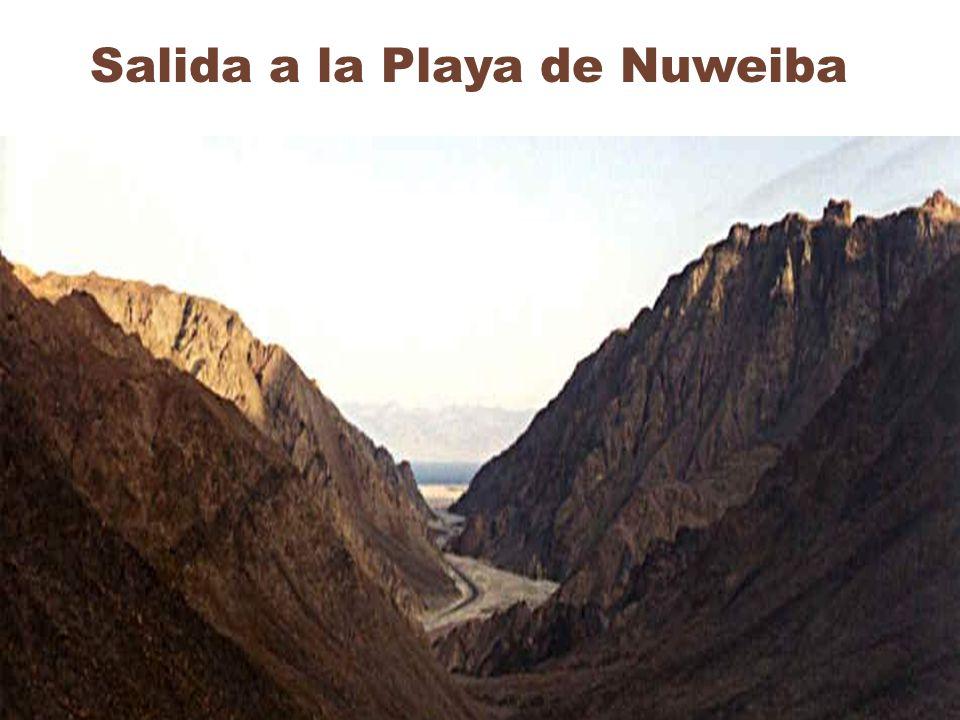 Playa de Nuweiba Vista satelital del desfiladero y de la única salida a la Playa de Nuweiba.