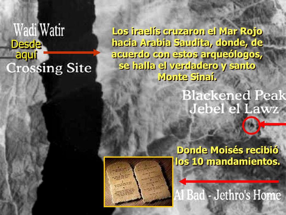 ¡ Ron Wyatt encontr ó los dos pilares del rey Salom ó n, colocados en ambas playas, para conmemorar el cruce del Mar Rojo! En las letras fenicias (heb
