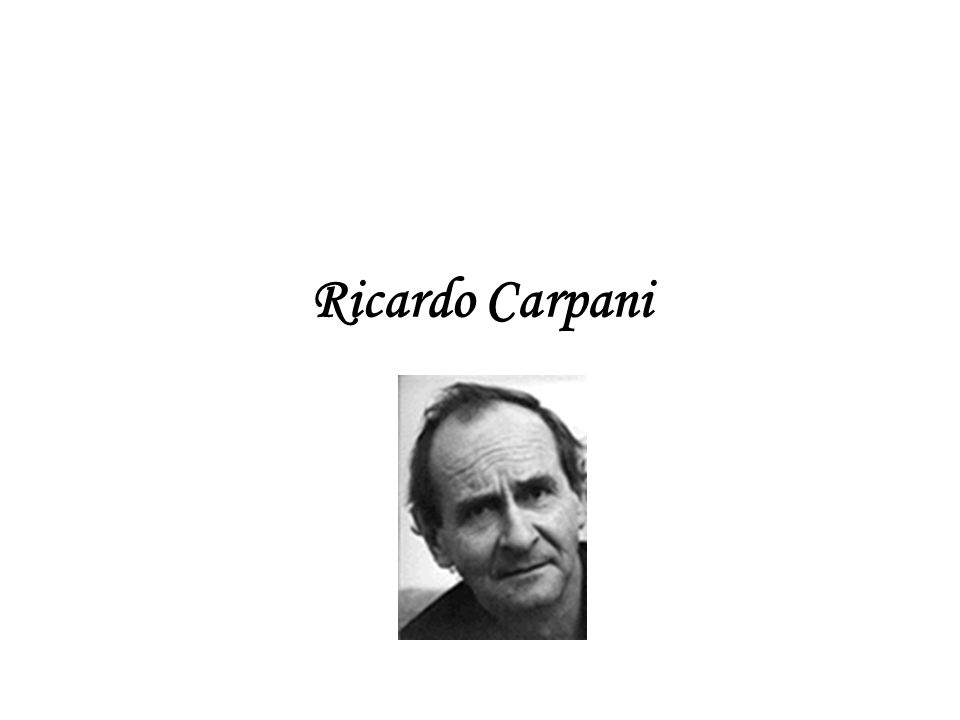 Biografía 1 Ricardo Carpani nació el 11 de febrero de 1930 en Tigre, provincia de Buenos Aires.