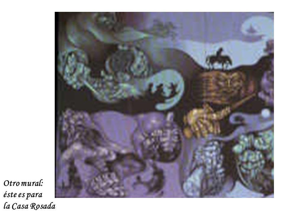 Otro mural: éste es para la Casa Rosada