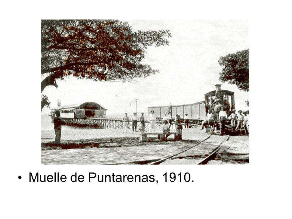 Muelle de Puntarenas, 1910.