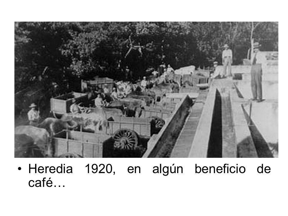 Heredia 1920, en algún beneficio de café…