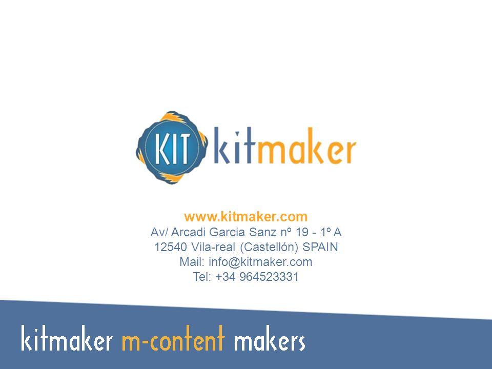 TECNO.COMPATIBILIDAD DESCRIPCIÓN www.kitmaker.com Av/ Arcadi Garcia Sanz nº 19 - 1º A 12540 Vila-real (Castellón) SPAIN Mail: info@kitmaker.com Tel: +34 964523331