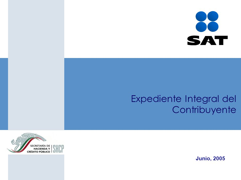 Expediente Integral del Contribuyente Junio, 2005