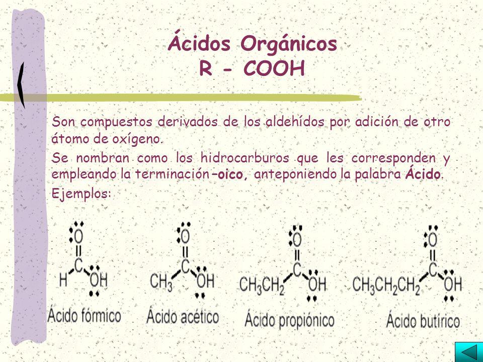 R – C – R O Se parecen a los aldehídos, el oxígeno que reemplaza a 2 hidrógenos se liga a un carbono secundario. Se nombra como el hidrocarburo corres