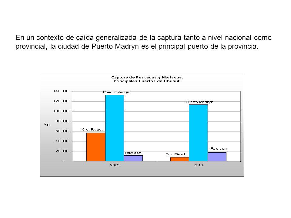 En un contexto de caída generalizada de la captura tanto a nivel nacional como provincial, la ciudad de Puerto Madryn es el principal puerto de la pro