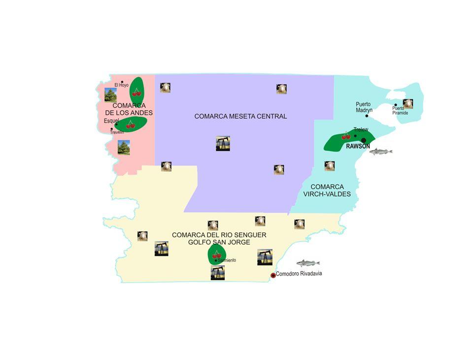 La producción de petróleo se concentra en los Departamentos de Escalante, Sarmiento y, en menor medida, Río Senguer en el sur provincial.