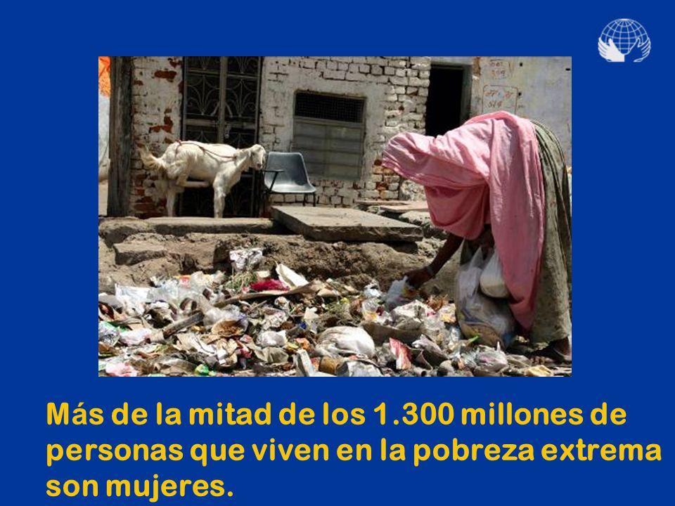 ¿Dónde nace la desigualdad? En la pobreza y el hambre que afectan sobre todo a las mujeres.