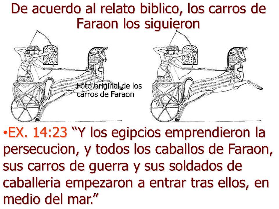 Exodo14:21-22 Moises ahora extendio su mano sobre el mar; y Jehová empezo a hacer que el mar se retirara por un fuerte viento del este durante toda la